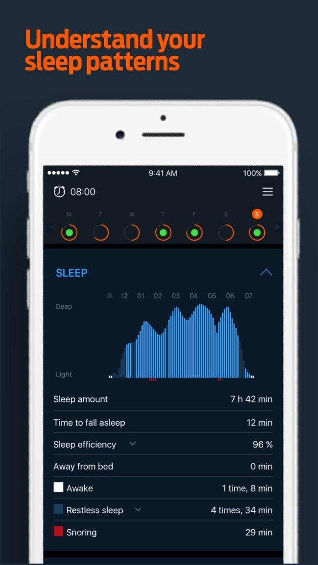 Beddit Sleep Monitor Screenshot