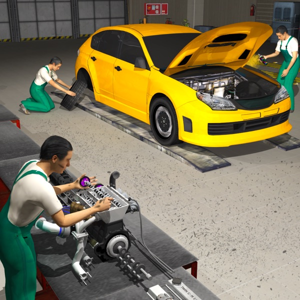Car Mechanic Engine Overhaul - Auto Repair Factory
