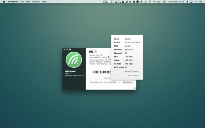 WiFiSpoof 3 1 1 download free | Mac Torrent Download