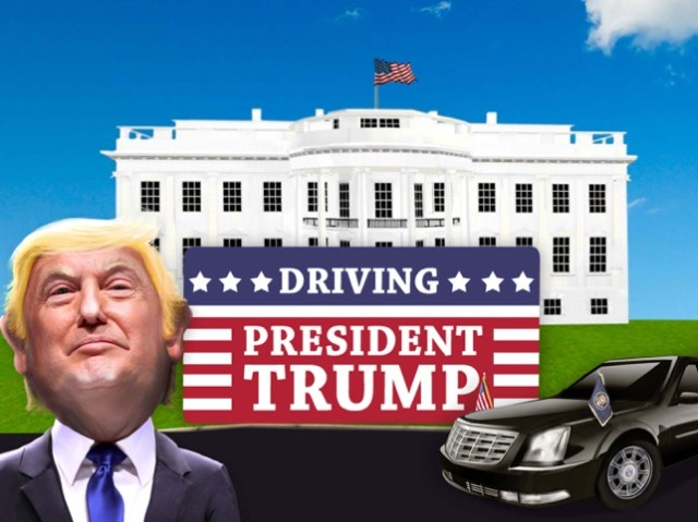 Driving President Trump 3D Sim Screenshot