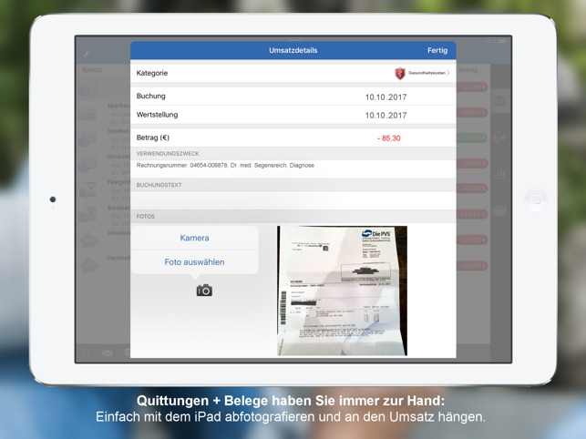 StarMoney - Banking per iPad Screenshot