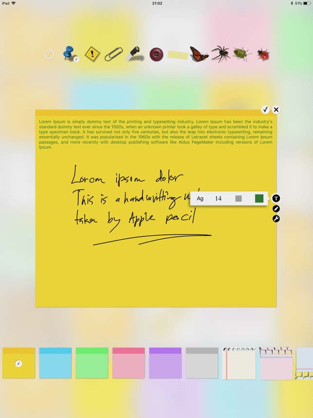 Sticky Notes + Widget Screenshot