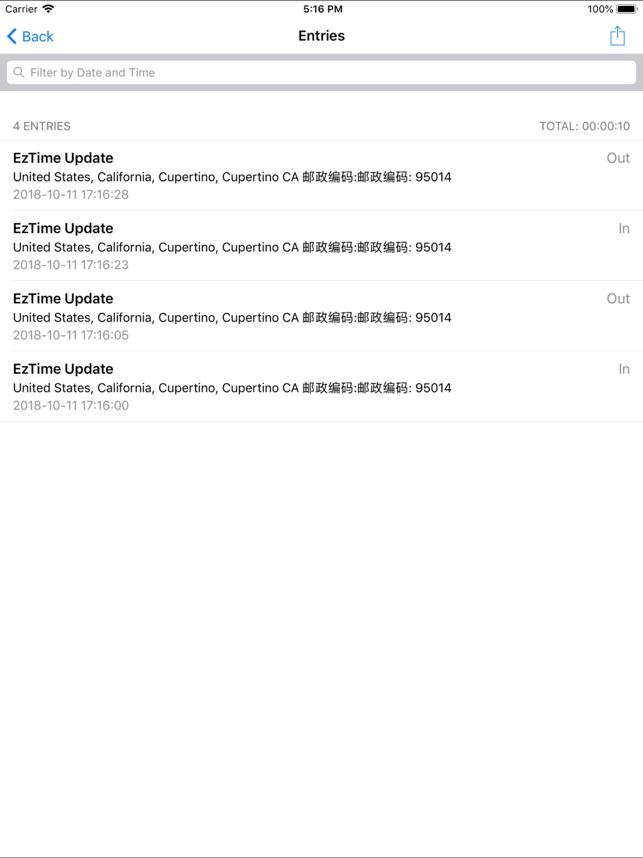 EzTime Screenshot