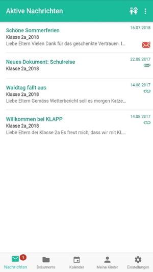 Klapp - Schulkommunikation Screenshot