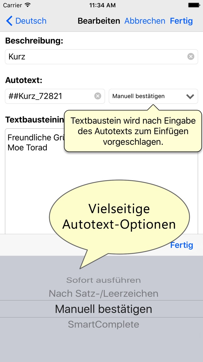 PhraseExpress Autotext Screenshot