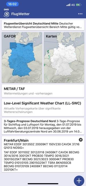 DWD Flugwetter Screenshot