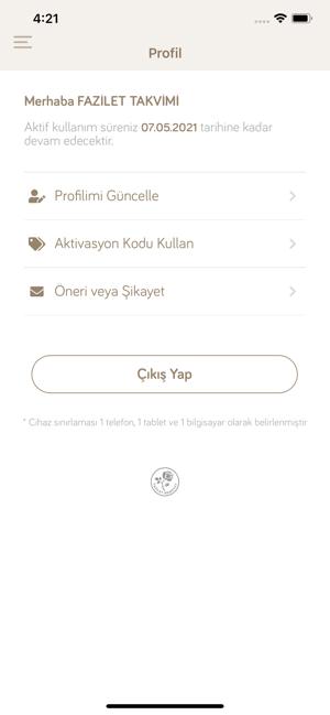 Fazilet Takvimi 2019 Screenshot
