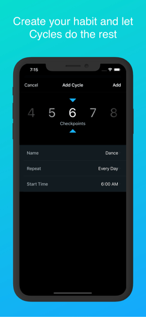Cycles - Daily Habit Creator Screenshot