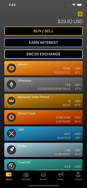 Monarch Wallet Screenshot