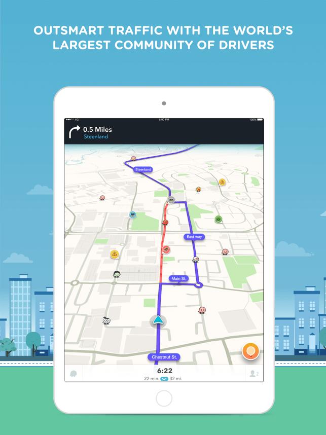 Waze Navigation & Live Traffic Screenshot