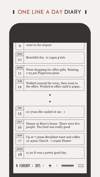 DayGram - 1 line a day Diary Screenshot