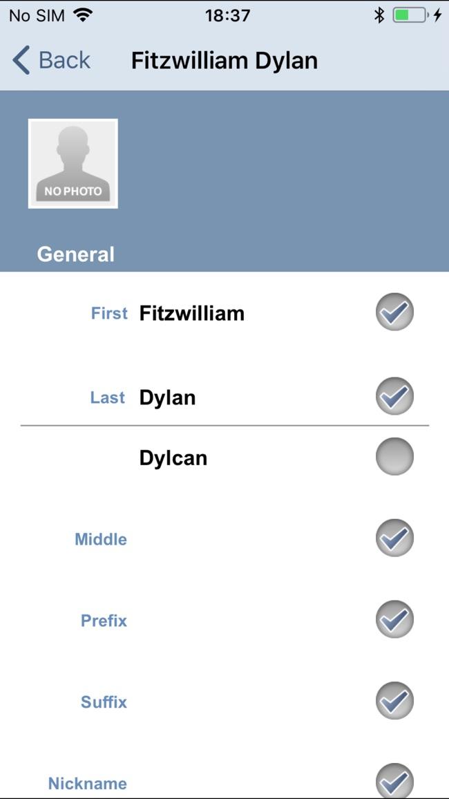 OneContact Screenshot