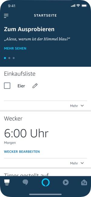 Amazon Alexa Screenshot