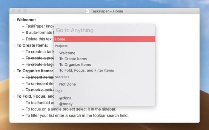 TaskPaper – Plain text to-dos Screenshot 3 ikzeg1n