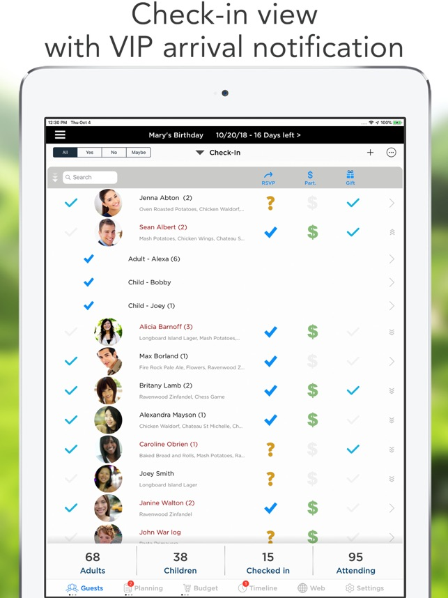 Pro Party Planner Screenshot