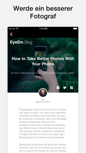 EyeEm Screenshot