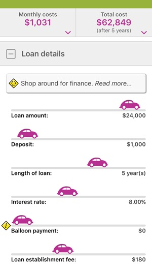 ‎MoneySmart Cars Screenshot