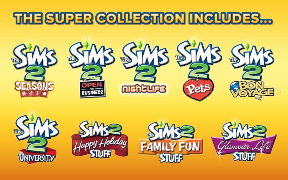 模拟人生2:终极收藏版合集 The Sims 2:Super Collection 1.2.2 Mac 破解版 模拟经营游戏