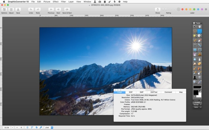 GraphicConverter 10 Screenshot 03 57xz2an