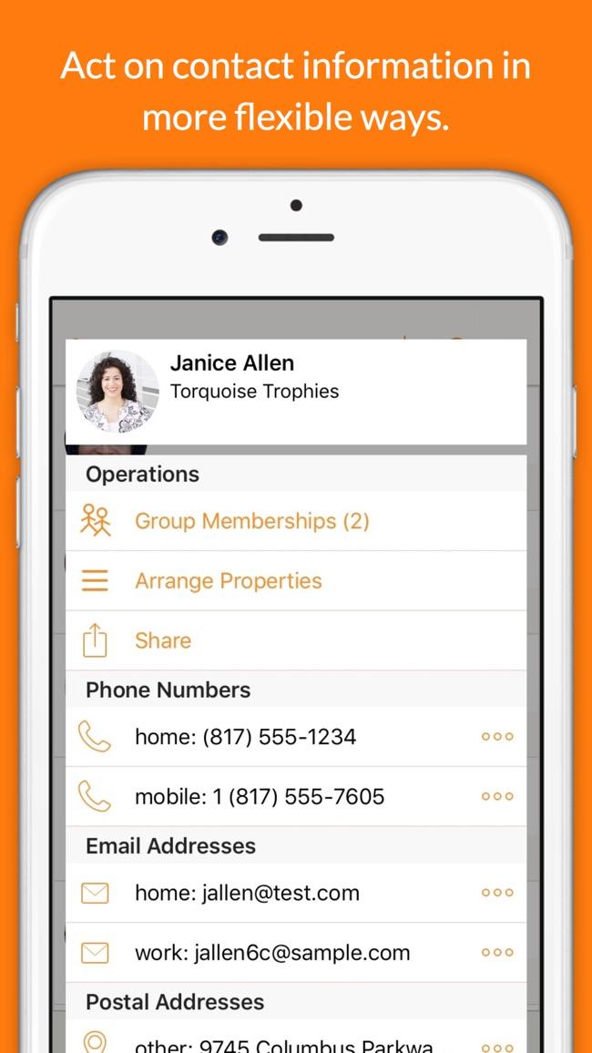 Interact Contacts Screenshot