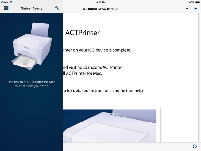 ACTPrinter - Virtual Printer Screenshot