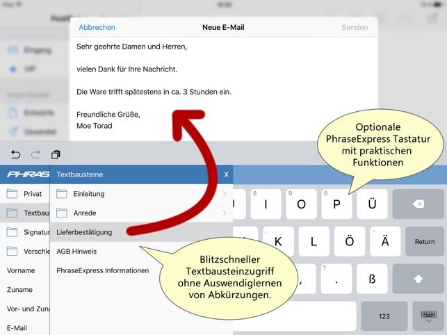 PhraseExpress Autotext Screenshot