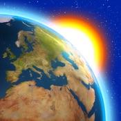 Tempo Agora temperatura alertas, Earth 3D widget
