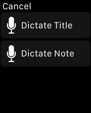Notes for Watch Screenshot