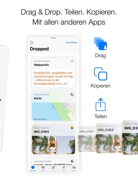 Dropped: Drag & Drop Clipboard Screenshot