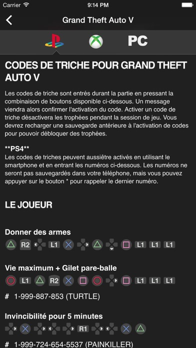 Cheats For GTA Codes De Triche Pour Chaque Jeu De La