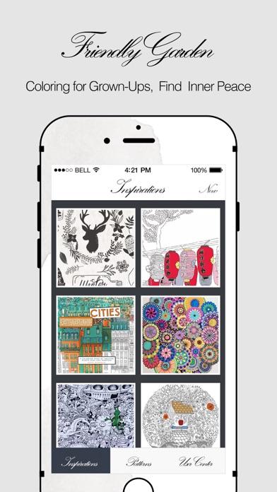 Friendly Garden HD Coloring Book For Grown Ups App