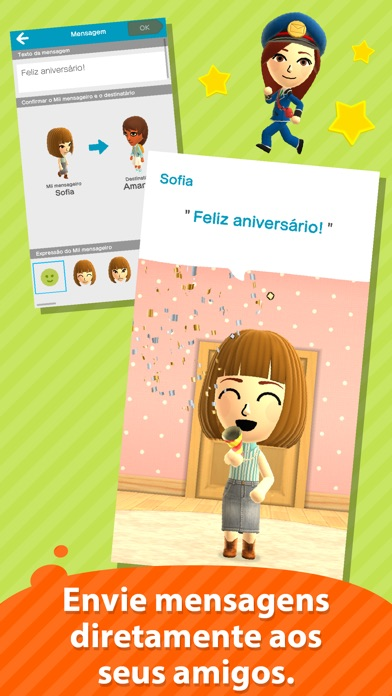 Screenshot do app Miitomo