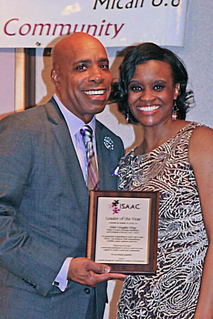 Elder Doug King and Dr Charlae Davis Leader of the Year