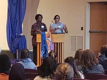Dr. Charlae Davis, Executive Director of ISAAC, and Rev. Joslyn Mason