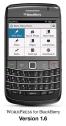 WordPress for BlackBerry dashboard