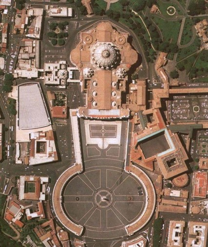 St Peters Square - Helicopter View