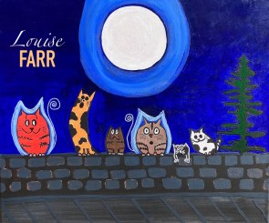Howling Haunting Cats 24x20