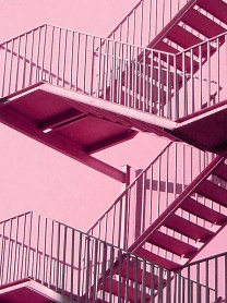 6. pink stairs