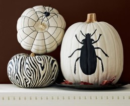 painted-pumpkin-black-and-white