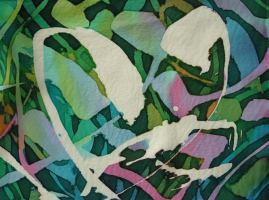 Meadow: detail; crêpe de Chine; 2005