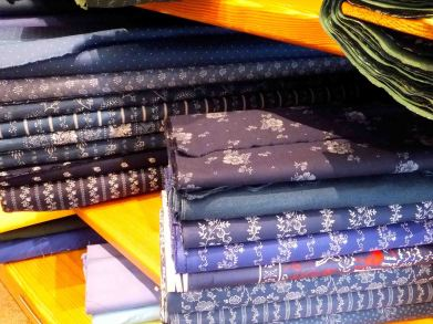 Commercially printed cottons in traditional-looking patterns from the Greif store in Rottach-Egern