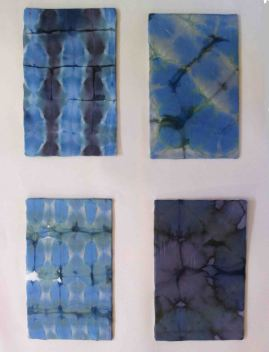 Four different shibori samples