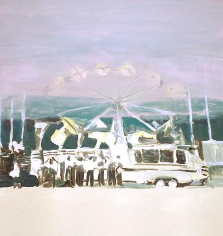 """""""Allô"""" 2011, acrylique sur toile, 31x41cm"""