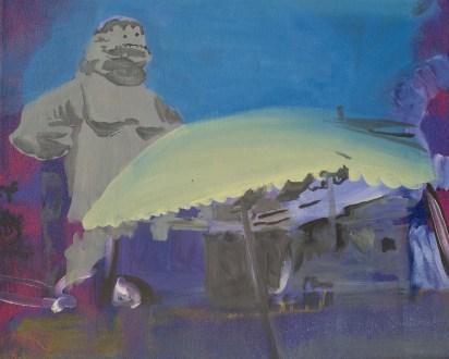 """""""Barbouiller"""" acrylique sur toile, 2012, 30x38 cm"""