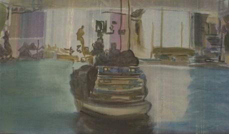 """""""Bateau"""" acrylique sur toile, 2012, 43x25cm"""