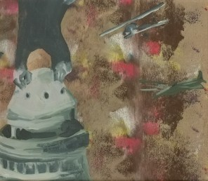 """""""Cantine"""" acrylique sur toile, 2013, 27x23 cm"""