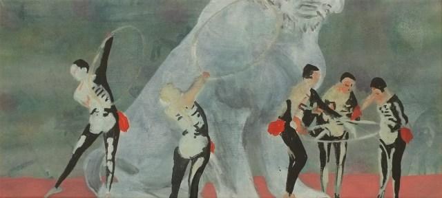 """""""Cacatoès"""" acrylique sur toile, 2013 51x23 cm"""