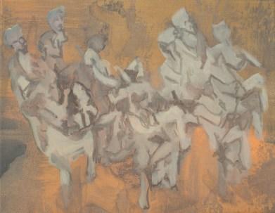 """""""Bocal"""" acrylique sur toile, 2012, 36x28cm"""