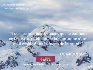citation bonheur Confucius