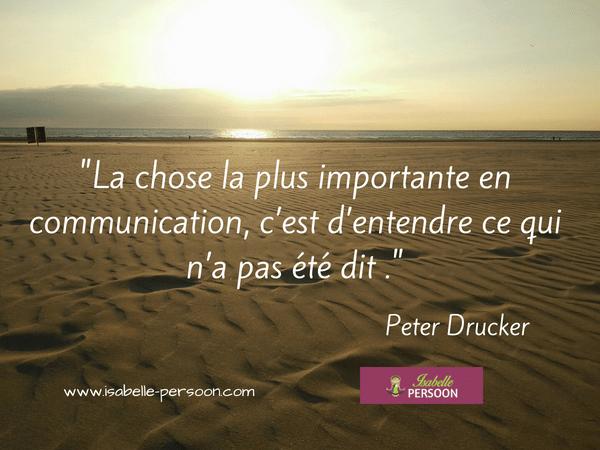 citation communication non verbale